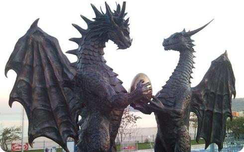 Familia de dragones en Varna