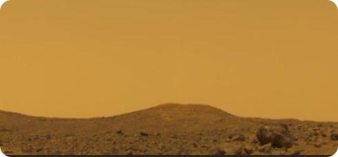 Cielo marciano, tomado por la Mars Pathfinder