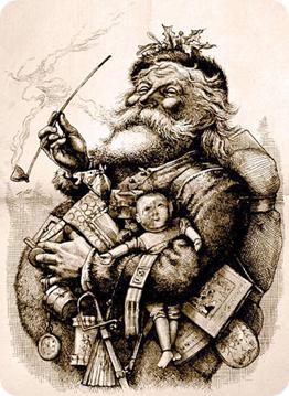 Papá Noel de Nast, 1881.