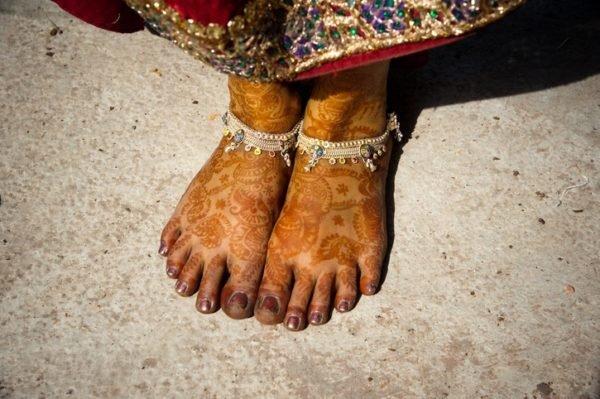 Tatuajes en el pie de henna