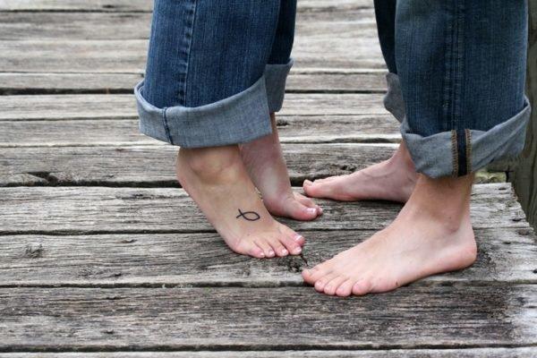 Tatuajes en el pie pez