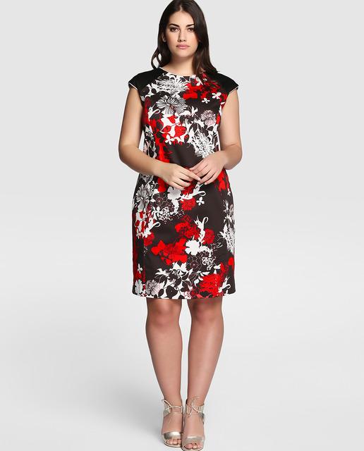 vestidos-de-fiesta-para-gorditas-blanco-negro-y-rojo