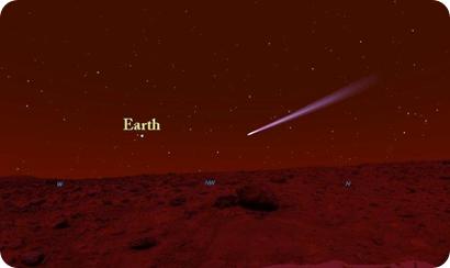 cometa ISON desde Marte