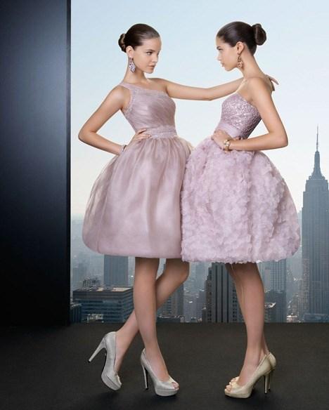 vestidos cortos de fiesta - Rosa Clará 2013