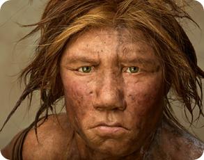 reconstrucción de mujer neandertal