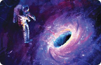 Resultado de imagen de Caer en un agujero negro