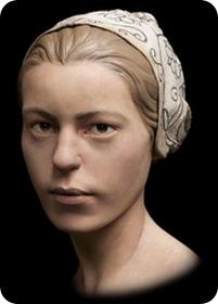 Reconstrucción del rostro de la joven canibalizada