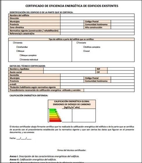 Certificado de eficiencia energ tica gu a para solicitarlo - Ejemplo certificado energetico piso ...