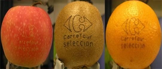 Frutas con tatuaje laser