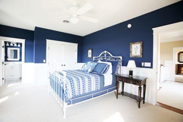 Decoraci n y colores para rec maras - Colores azules para paredes ...