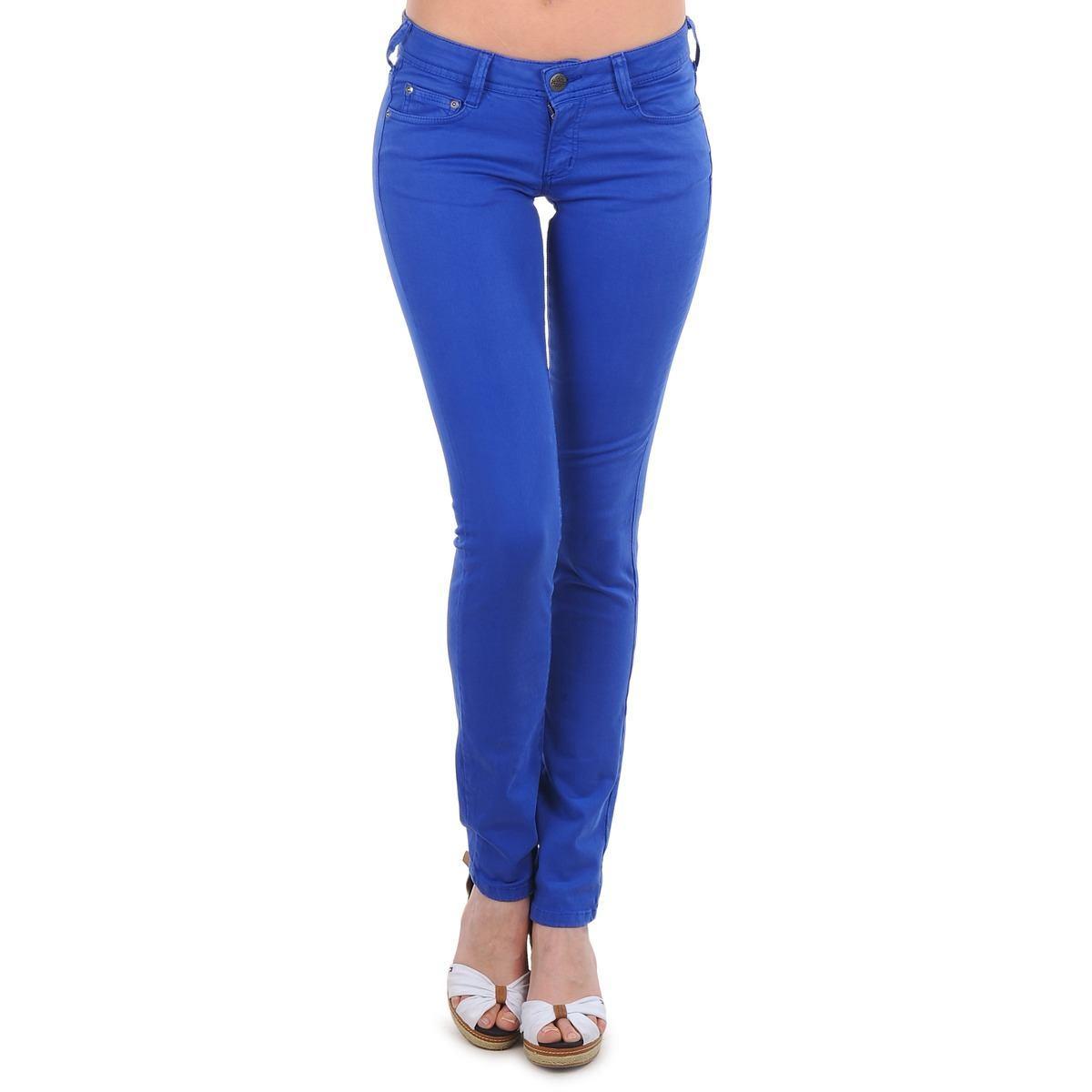 Jeans azul electrico