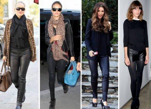 e8ac8110ef Pantalones de cuero (Zara