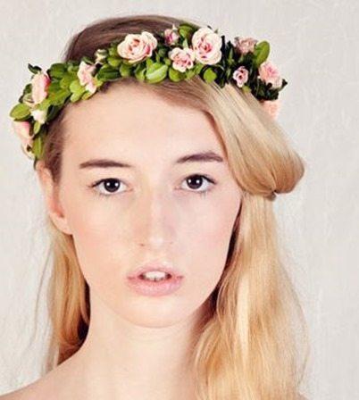 Coronas de flores para novias y comuniones - Diademas de flores para nina ...