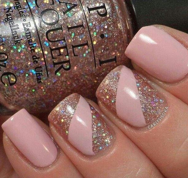 uñas-2015-rosa-purpurina