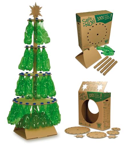 Rbol de navidad reciclado de 50 ideas de rboles de for Ideas para hacer cosas de navidad