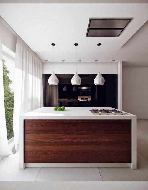 cocinas-modernas-con-isla-de-madera-y-blanca