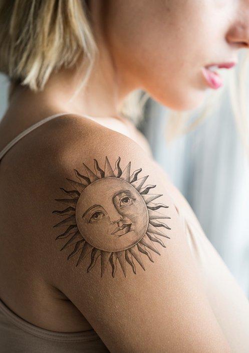 Diseños De Tatuajes De Soles 2019 Ideas Y Significado Tendenziascom