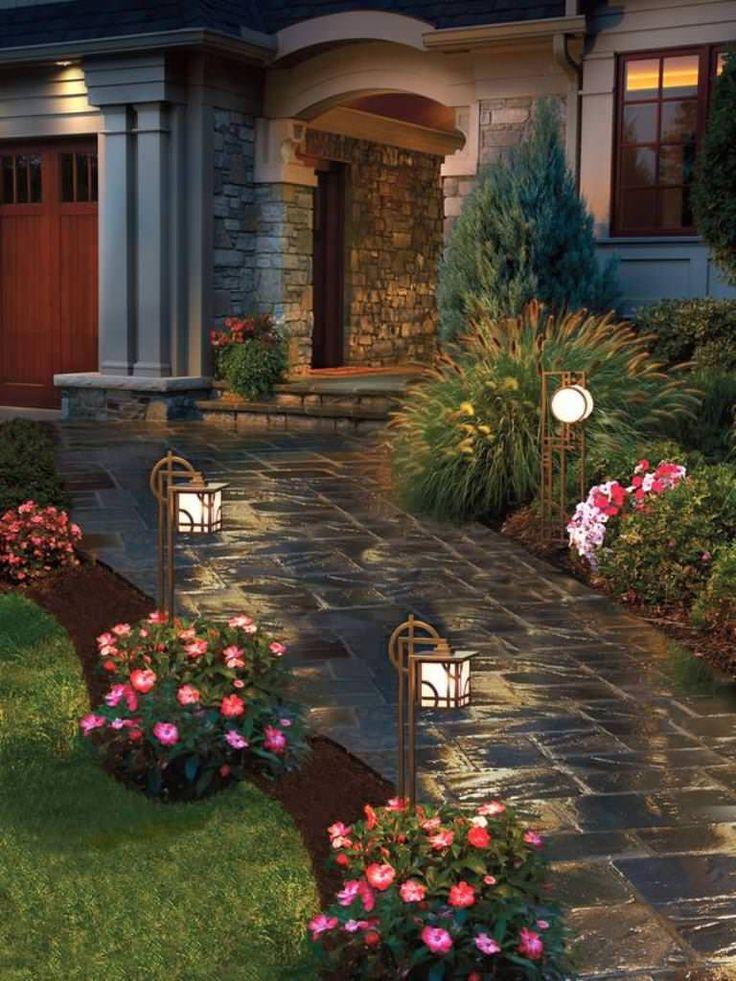 camino hormigon impreso jardin