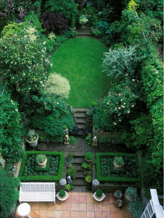 jardin con distintos verdes