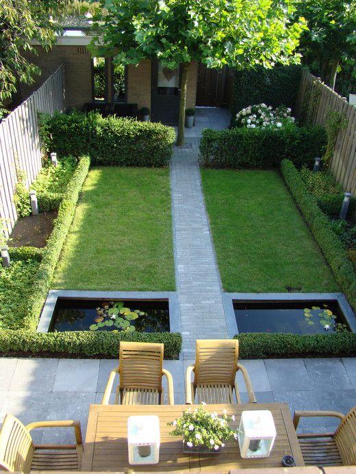 jardin con estanque