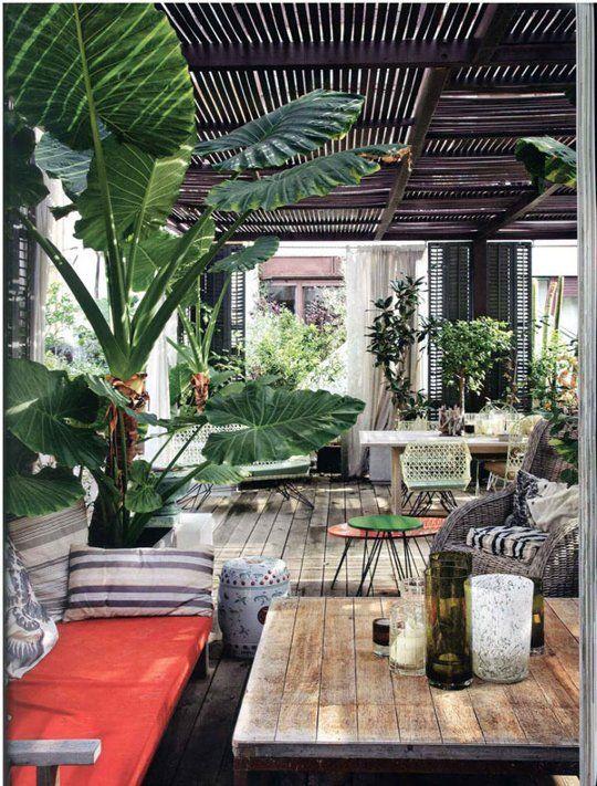 jardines con decoracion madera