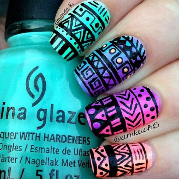 dibujos para uñas 2015 azteca