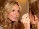 Heidi Klum en Los Angeles promocionando línea de cosméticos