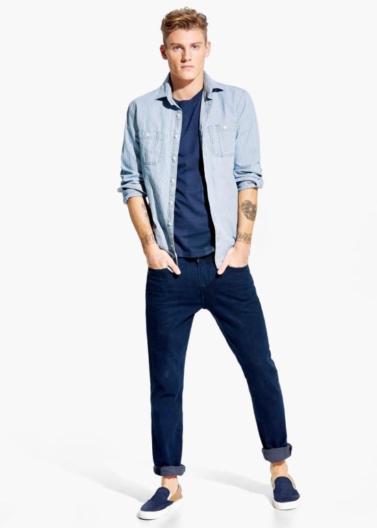 Look-azul-con-zapatillas-de-verano-de-mango