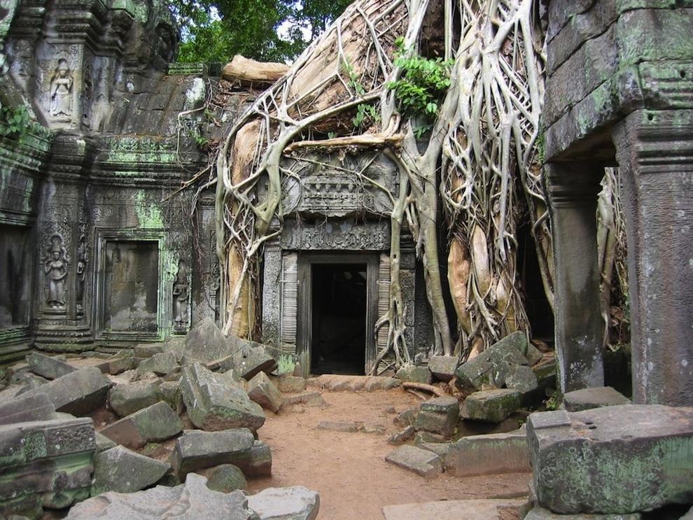 lugares abandonados Angkor Wat en Camboya