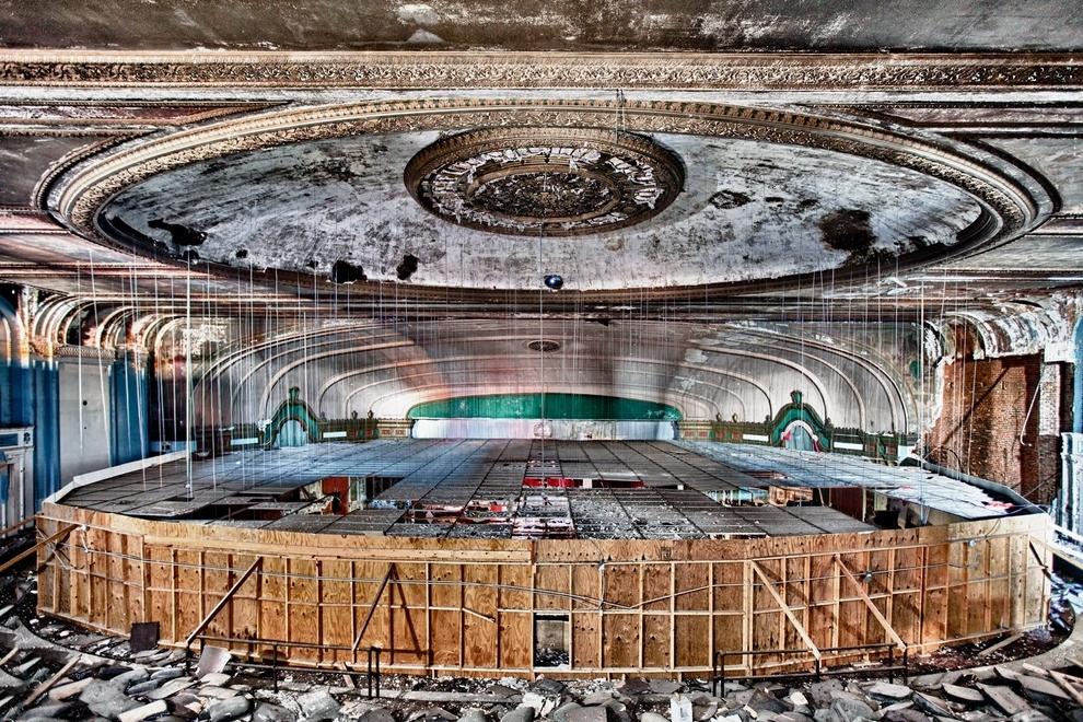 lugares abandonados Teatro Lawndale en Chicago