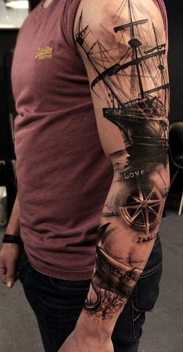 tatuajes-brujulas-y-barco