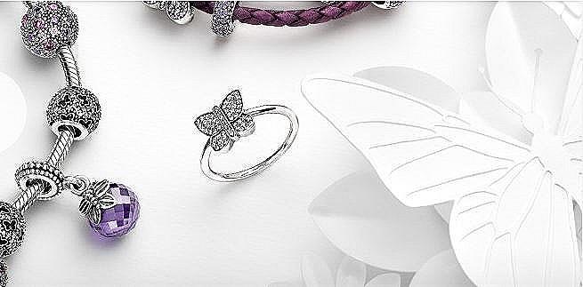 anillo pandora mariposa