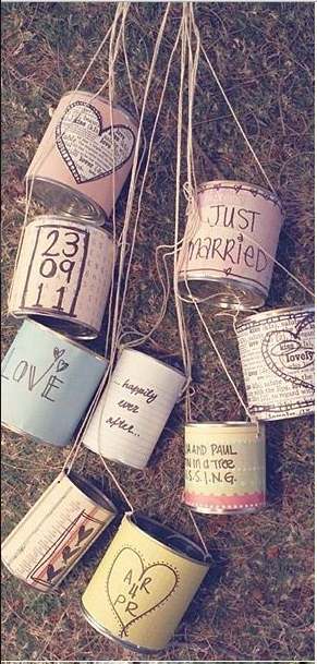 decoracion boda latas