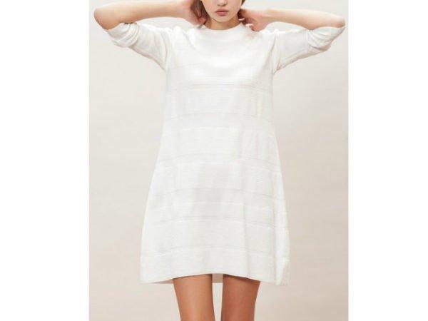 catálogo-stradivarius-vestidos-blanco-cuello