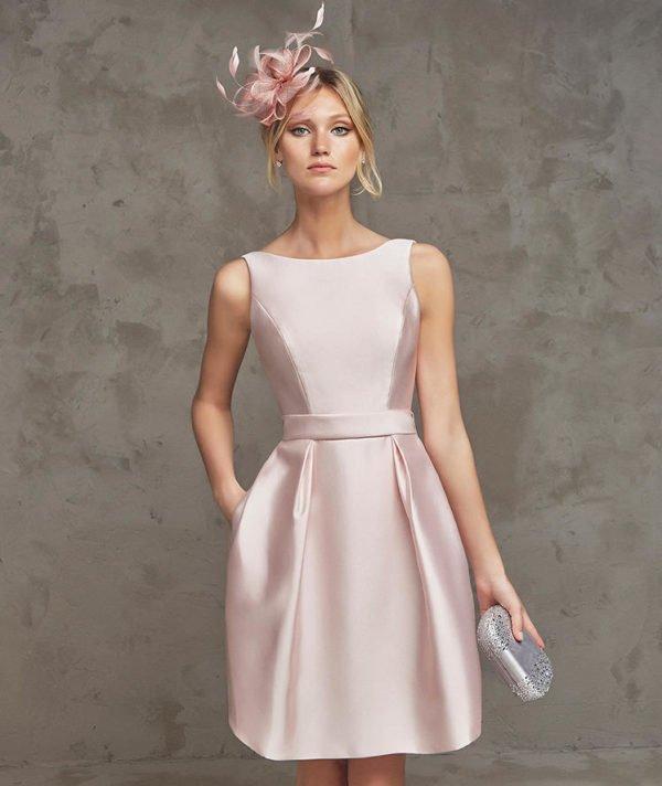 vestidos-de-fiesta-pronovias-raso-rosa