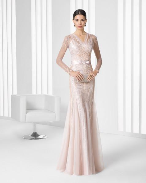 Vestidos de fiesta Rosa Clará rosa palo romántico