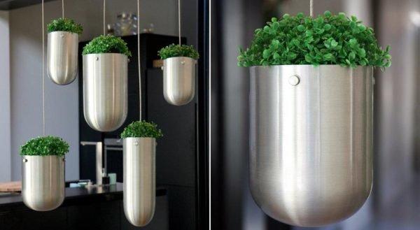 20 bonitas formas de decorar la casa con plantas de interior - Macetas para plantas de interior ...