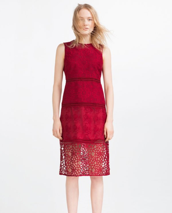 catalogo,vestidos,zara,mujer,encaje,bordado