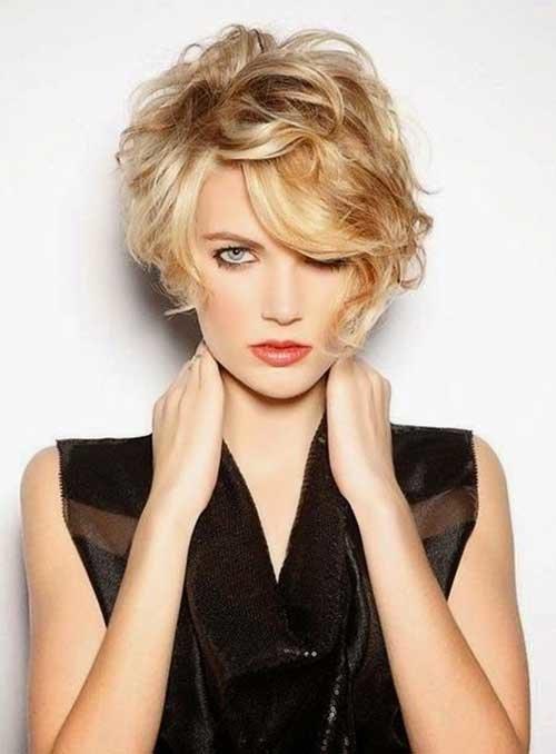cortes de pelo rizado 2016 estilo despeinado - Pelados Cortos Mujer