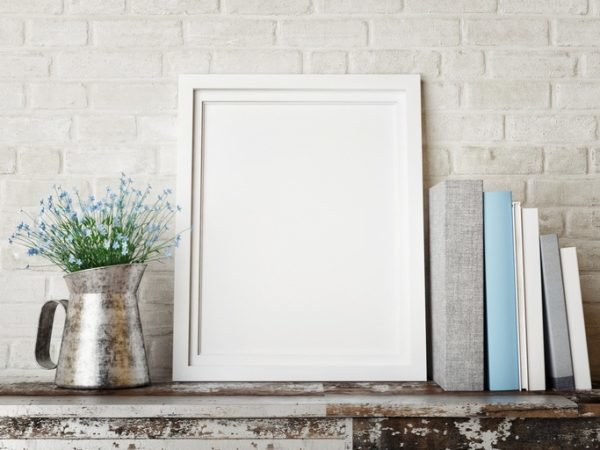 decorar con cuadros modernos cuadro blanco