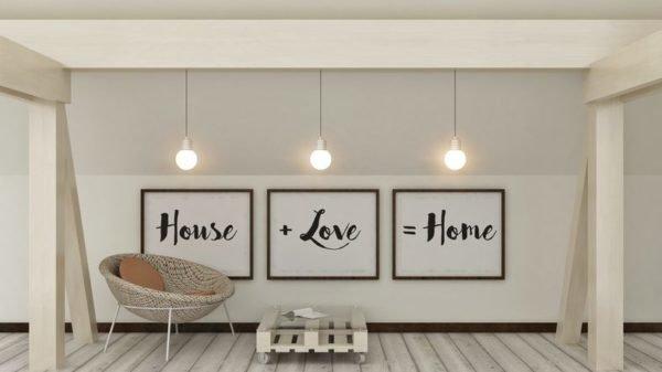 decorar con cuadros modernos cuadro con frase tres cuadros - Cuadros Grandes Dimensiones