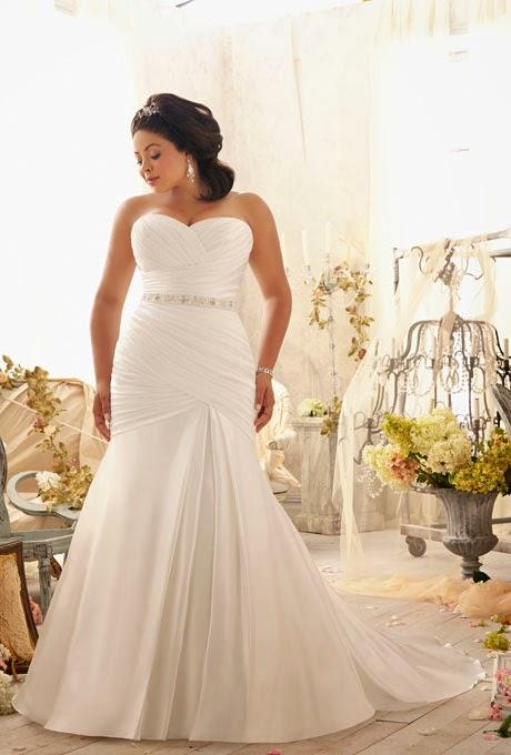 Imagenes de vestidos de novias para gorditas sencillos