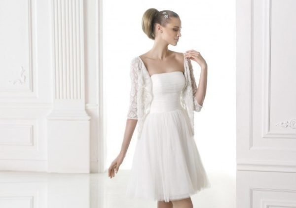 Los vestidos de novia cortos para 2017