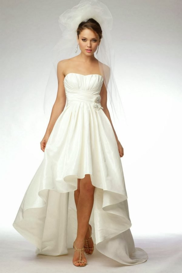 Los vestidos de novia cortos 2017