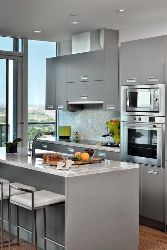 cocinas-pequenas-modernas-cocina-gris-texturas