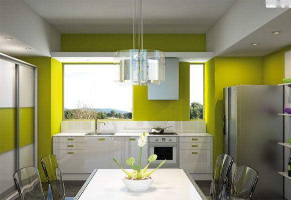 cocinas-pequenas-modernas-color-amarillo