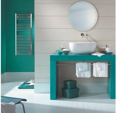 Colores para cuartos de ba o 2018 for Pintura azul aguamarina