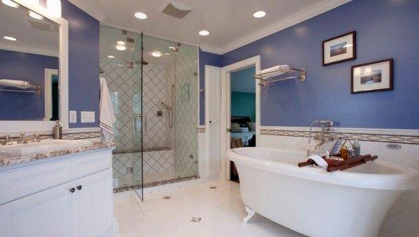 Encantador  Hacer Un Cuarto De Bano #3: Colores-para-cuartos-de-bano-azul-azafata-600x340.jpg
