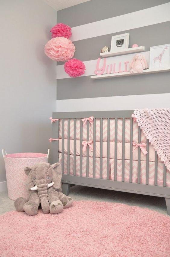 colores para cuartos de bebes recien nacidos grises - Habitacion Bebe Nia