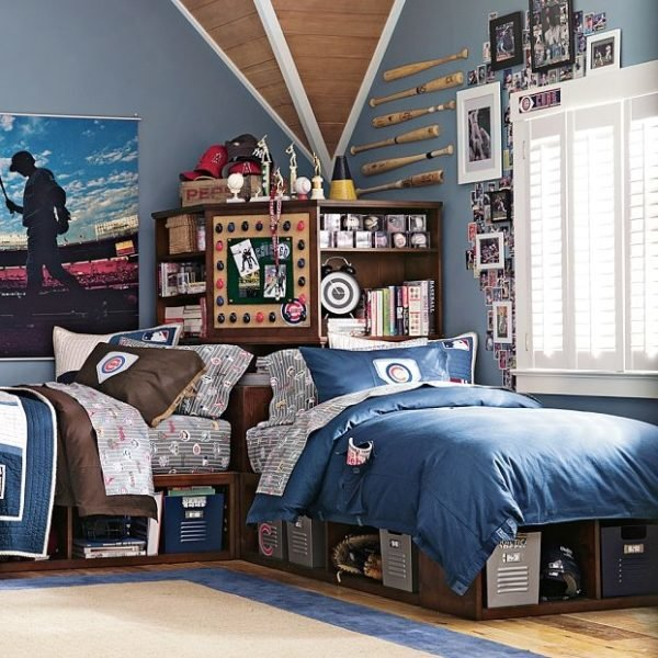 Colores para cuartos juveniles habitaciones 2018 for Young male bedroom designs